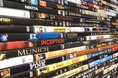 Colección de la película de DVD, tiro del estudio Fotos de archivo
