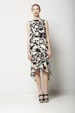 Colección de la primavera. Mujer delgada elegante en vestido elegante. Modelo de moda de moda Imágenes de archivo libres de regalías