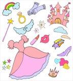 Colección de la princesa Imagen de archivo libre de regalías