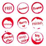 Colección de la promoción de manchas redondas de la acuarela libre illustration