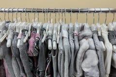 Colección de la ropa del invierno de las mujeres Imágenes de archivo libres de regalías