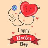 Colección de la tarjeta de felicitación de la celebración del día del doctor stock de ilustración