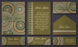Colección de la tarjeta de la invitación Elementos decorativos étnicos Islam, árabe, indio, adornos del otomano Imagen de archivo libre de regalías