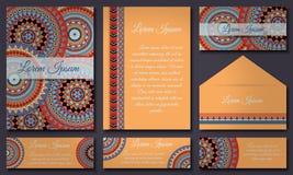 Colección de la tarjeta de la invitación Elementos decorativos étnicos Islam, árabe, indio, adornos del otomano Imagenes de archivo