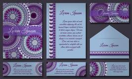Colección de la tarjeta de la invitación Elementos decorativos étnicos Islam, árabe, indio, adornos del otomano Imágenes de archivo libres de regalías