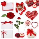 Colección de la tarjeta del día de San Valentín Foto de archivo libre de regalías