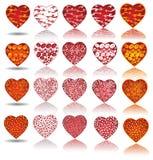 Colección de la tarjeta del día de San Valentín del corazón Imagenes de archivo