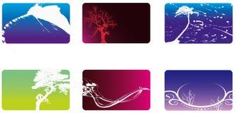 Colección de la tarjeta o del bussiness Imagen de archivo libre de regalías