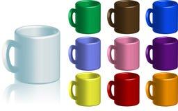 Colección de la taza de café Foto de archivo libre de regalías