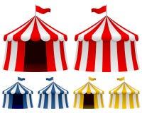 Colección de la tienda de circo Imagen de archivo libre de regalías
