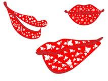 Colección de labios Imagen de archivo