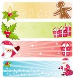 Colección de las banderas de la Navidad. Fotos de archivo libres de regalías