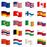 Colección de las banderas de país 2 Imagen de archivo libre de regalías