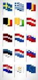 Colección de las banderas de unión europea Conjunto 2 Fotos de archivo