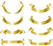 Colección de las banderas del oro Imagen de archivo libre de regalías