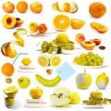 Colección de las bayas y de las frutas Foto de archivo libre de regalías