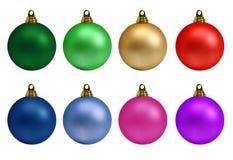 Colección de las bolas de la Navidad Imagen de archivo