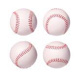 Colección de las bolas del béisbol aislada Foto de archivo libre de regalías