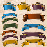 Colección de las cintas vacías del color Imágenes de archivo libres de regalías