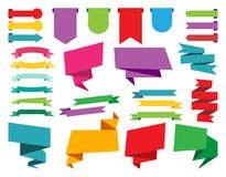 Colección de las etiquetas engomadas, de las etiquetas, de las banderas y de las etiquetas del web