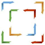 Colección de las flechas de la perspectiva ilustración del vector