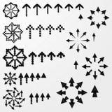 Colección de las flechas negras Fotografía de archivo libre de regalías