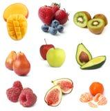 Colección de las frutas Foto de archivo
