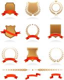 Colección de las insignias Imagenes de archivo