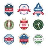 Colección de las insignias en estilo retro Fotos de archivo