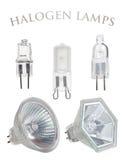 Colección de las lámparas del halógeno Imágenes de archivo libres de regalías