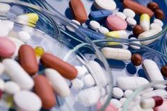 Colección de las medicinas imagen de archivo