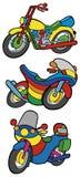 Colección de las motos del color ilustración del vector
