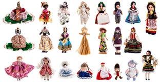 Colección de las muñecas Imagen de archivo libre de regalías