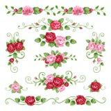 Colección de las rosas ilustración del vector