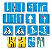 Colección de las señales de tráfico del vector Foto de archivo libre de regalías