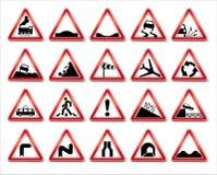 Colección de las señales de tráfico del vector Fotografía de archivo libre de regalías