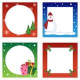 Colección de las tarjetas de Navidad Foto de archivo