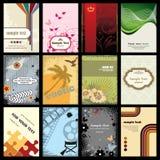 Colección de las tarjetas de visita Foto de archivo