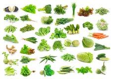 Colección de las verduras aislada en blanco Imagen de archivo libre de regalías