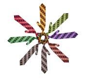 Colección de lazos para los juegos de diversos colores Imagen de archivo