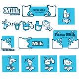 Colección de leche stock de ilustración