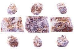 Colección de Lepidolite mineral de piedra Imagenes de archivo