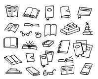 Colección de libros del garabato, ejemplo del vector Imágenes de archivo libres de regalías