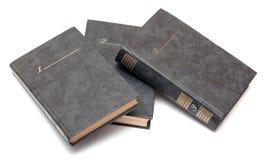 Colección de libros viejos Imagenes de archivo