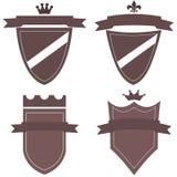 Colección de logotipos con las banderas medievales Imagen de archivo libre de regalías