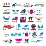 Colección de logotipos del vector del envío Fotografía de archivo