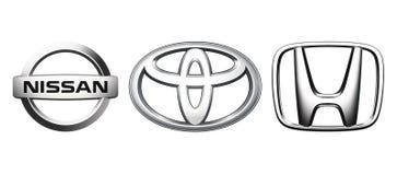 Colección de logotipos populares del coche de Japón