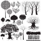 Colección de los árboles Fotos de archivo