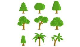 Colección de los árboles Fotografía de archivo