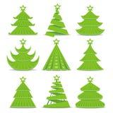 Colección de los árboles de navidad ilustración del vector